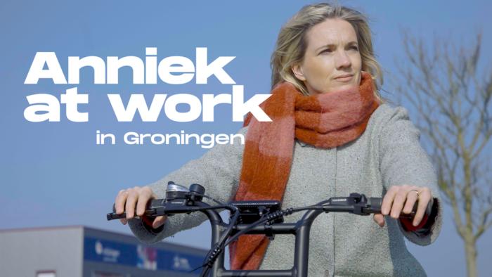 Anniek at work in Groningen